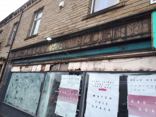 Halifax Co op sign Hipperholme March 2019