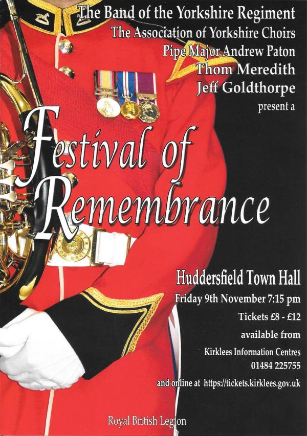 Band of the Yorkshire Regiment's Annual Festival of Remembrance - 9 November 2018